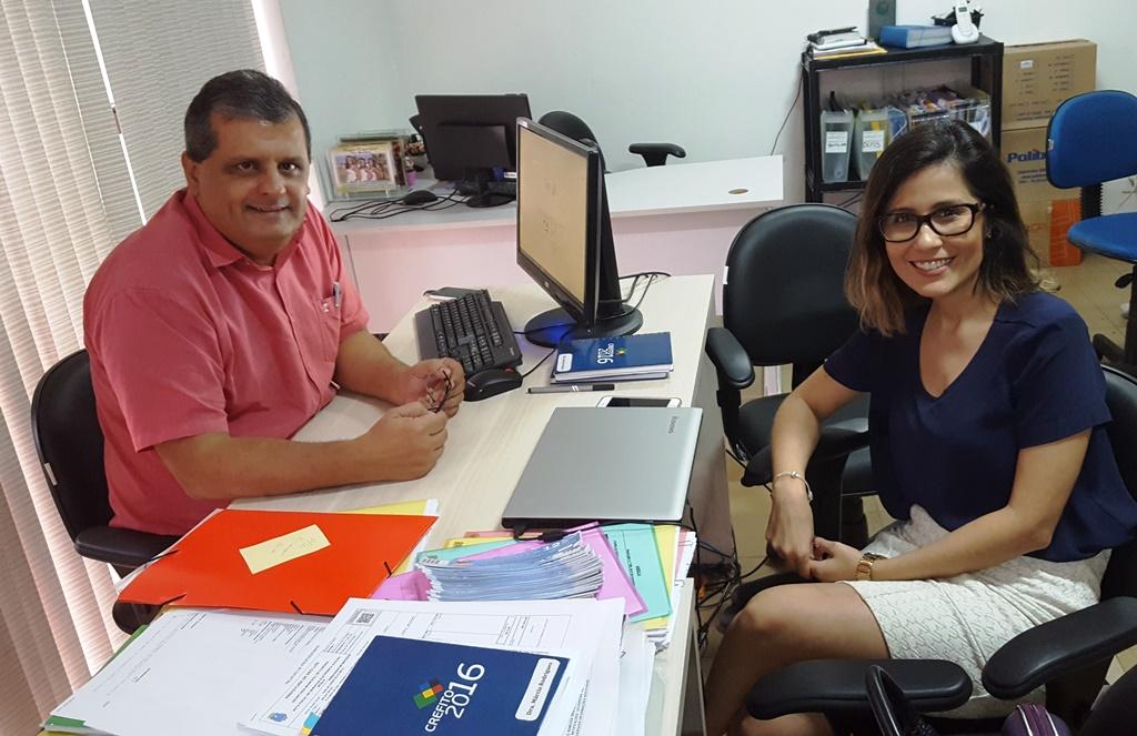 CREFITO 16 recebe Assessora de Comunicação do COFFITO